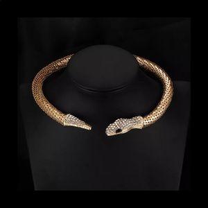 Trendy Personality Crystal Snake Choker Necklace